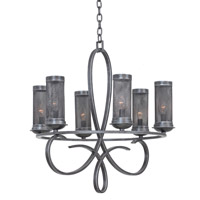 Kalco Lighting Delancy 6 Light Chandelier in Vintage Iron 7534VI