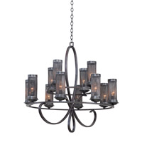 Kalco Delancy 12 Light Chandelier in Vintage Iron 7535VI