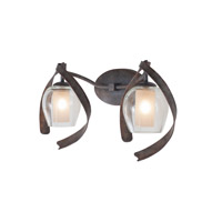 Kalco Lighting Solana 2 Light Bath Vanity in Oxidized Copper 7542OC