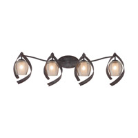 Kalco Lighting Solana 4 Light Bath Vanity in Oxidized Copper 7544OC