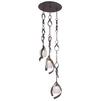 Kalco Solana 3 Light Pendant in Oxidized Copper 7547OC