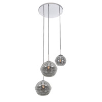 Kalco 7577CH Celine 3 Light 25 inch Chrome Foyer Ceiling Light
