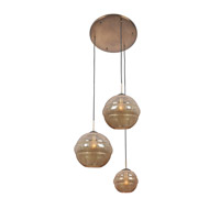 Kalco Celine 3 Light Foyer Pendant in Chemical Bronze 7578CB