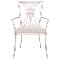 Bal Harbour Pearl Silver Dining Chair Home Decor, Dining Chair with Armrest
