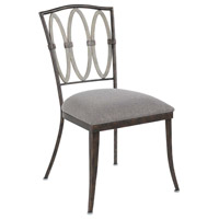 Belmont Florence Gold Chair, Dining Chair without Armrest, Set of 2