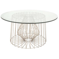 Metro 36 inch Pearl Silver Coffee Table, Coffee Table