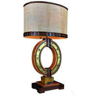 Aspen 32 inch 75 watt Natural Iron Table Lamp Portable Light