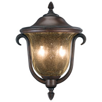 Kalco Santa Barbara 2 Light Outdoor Porch Light in Burnished Bronze 9000BB