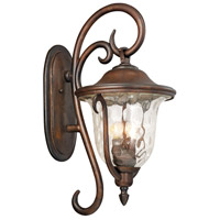 Santa Barbara Outdoor 3 Light 13 inch Burnished Bronze Wall Sconce Wall Light