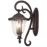 Kalco 9003MB Santa Barbara Outdoor 4 Light 16 inch Textured Matte Black Wall Sconce Wall Light