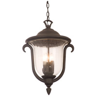 Kalco Lighting Santa Barbara 3 Light Outdoor Hanging Lantern in Textured Matte Black 9007MB