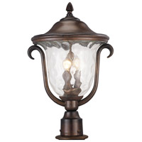 Santa Barbara Outdoor 3 Light 19 inch Burnished Bronze Post Mount