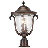Kalco 9012BB Santa Barbara Outdoor 3 Light 13 inch Burnished Bronze Hanging Lantern Ceiling Light