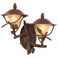 Kalco 9162PD Ponderosa Outdoor 2 Light 20 inch Ponderosa Wall Sconce Wall Light