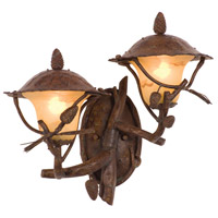 Kalco 9163PD Ponderosa Outdoor 2 Light 20 inch Ponderosa Wall Sconce Wall Light