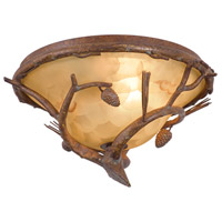 Kalco 9177PD Ponderosa Outdoor 2 Light 15 inch Ponderosa Flush Mount Ceiling Light