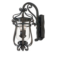 Hartford Outdoor 2 Light 9 inch Antique Copper Wall Bracket Wall Light