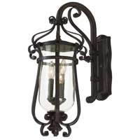 Kalco Lighting Hartford Outdoor 3 Light Wall Bracket in Burnished Bronze 9232BB