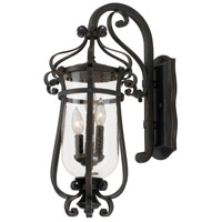 Kalco 9233AC Hartford Outdoor 3 Light 13 inch Antique Copper Wall Bracket Wall Light