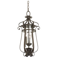 Kalco Hartford Outdoor 3 Light Hanging Lantern in Burnished Bronze 9235BB