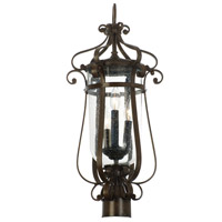 Kalco Hartford Outdoor 3 Light Pier/Post Mount in Burnished Bronze 9238BB
