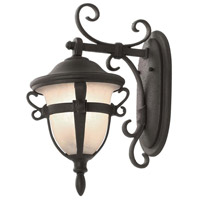 Tudor 2 Light 18 inch Textured Matte Black Outdoor Wall Bracket