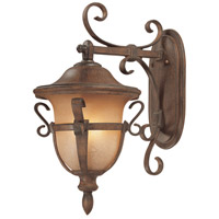 Tudor 3 Light 22 inch Walnut Outdoor Wall Bracket