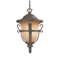 Kalco 9396WT Tudor Outdoor 3 Light 12 inch Walnut Hanging Lantern Ceiling Light
