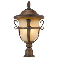 Tudor 4 Light 23 inch Walnut Post Mount