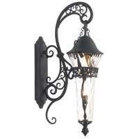 Anastasia 2 Light 31 inch Textured Matte Black Outdoor Wall Bracket