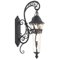 Anastasia 2 Light 37 inch Textured Matte Black Outdoor Wall Bracket