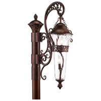 Kalco Lighting Anastasia 2 Light Outdoor Post Mount in Burnished Bronze 9422BB