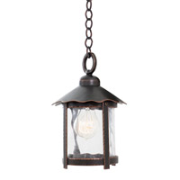 Kalco 9556AC Winston 1 Light 7 inch Antique Copper Hanging Lantern Ceiling Light