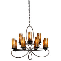 Kalco Grayson 12 Light Chandelier in Heirloom Bronze 2675HB/PS22
