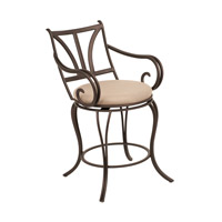 Santa Barbara Satin Bronze Bar Stool Home Decor, Swivel With Armrest