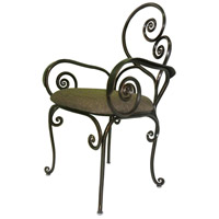 Windsor Antique Copper Dining Chair Home Decor, With Armrest