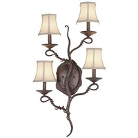 Vine 4 Light 18 inch Veneto ADA Wall Bracket Wall Light in Without Glass, S54
