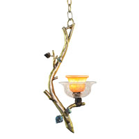 Kalco Cottonwood 1 Light Mini Pendant in Aged Silver 2518SV
