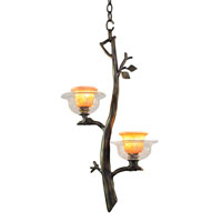 Kalco Cottonwood 2 Light Mini Pendant in Sienna Bronze 2519SB