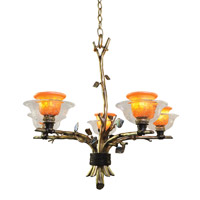 Kalco Cottonwood 5 Light Chandelier in Aged Silver 2521SV