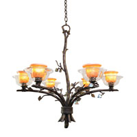 Kalco Cottonwood 6 Light Chandelier in Sienna Bronze 2522SB