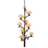 Kalco Cottonwood 8 Light Foyer Light in Sienna Bronze 2524SB