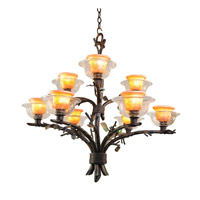 Kalco Cottonwood 9 Light Chandelier in Sienna Bronze 2525SB