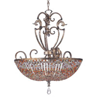 Kalco Chesapeake 7 Light Pendant in Antique Silver Leaf 2567AF
