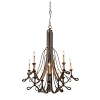 Kalco Keller 10 Light Chandelier in Vintage Iron 5107VI