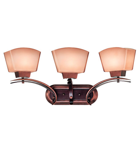 Kenroy Lighting Oslo Burnished Copper and Black Cherry Finish Bathroom Lights 02743 photo