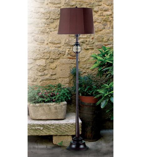 Kenroy Lighting 03071 Hatteras 61 inch 100 watt Gilded Copper Outdoor Floor Lamp photo