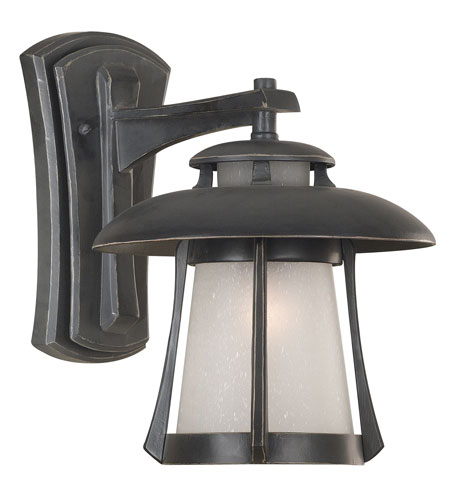 Kenroy Lighting Laguna 1 Light Outdoor Wall Lantern in Ebony Pearl   03190 photo