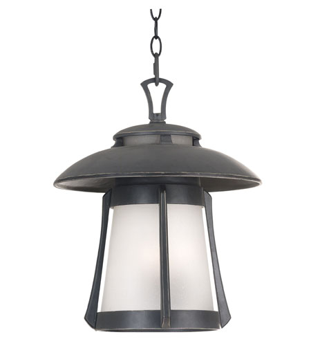 Kenroy Lighting Laguna 3 Light Outdoor Hanging Lantern in Ebony Pearl   03192 photo