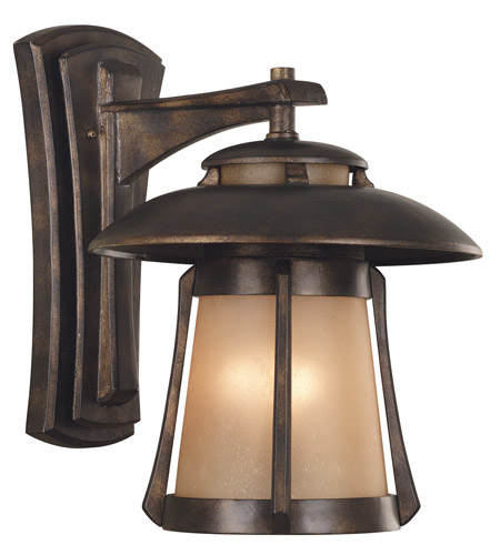Kenroy Lighting Laguna 3 Light Outdoor Wall Lantern in Golden Bronze   03196 photo